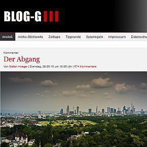 Blog G, die Eintracht und ich