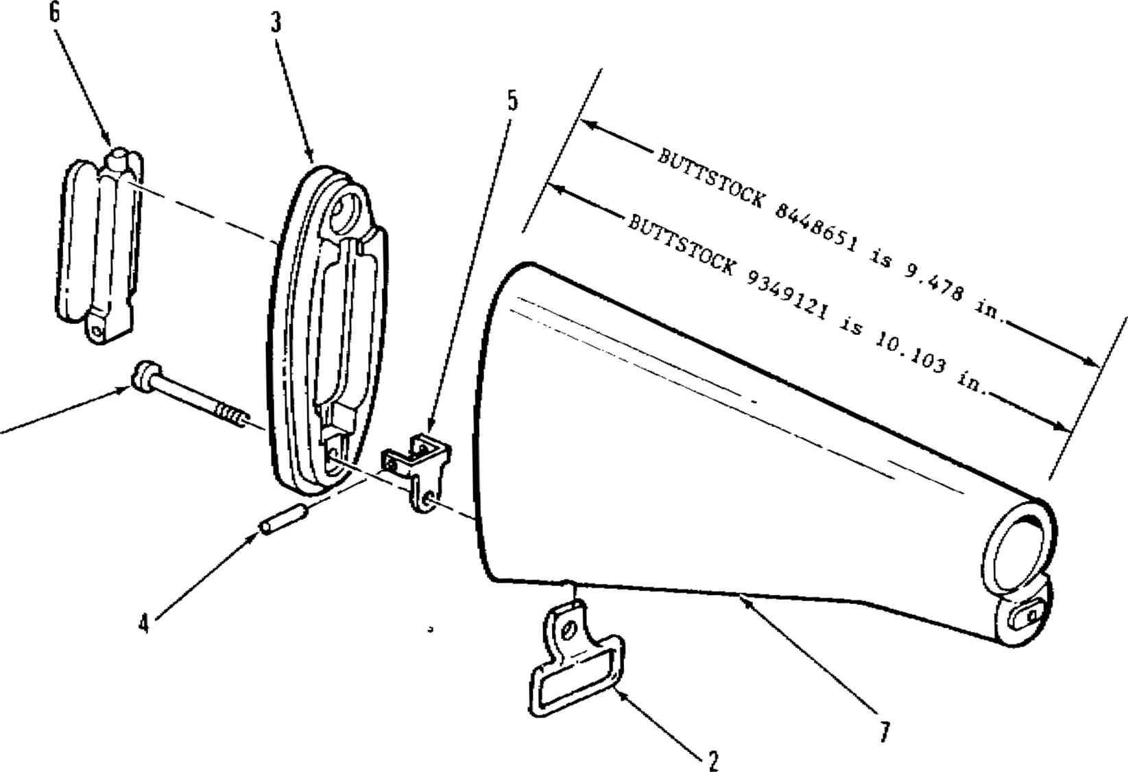 Figure C Shoulder Gun Stock Assembly