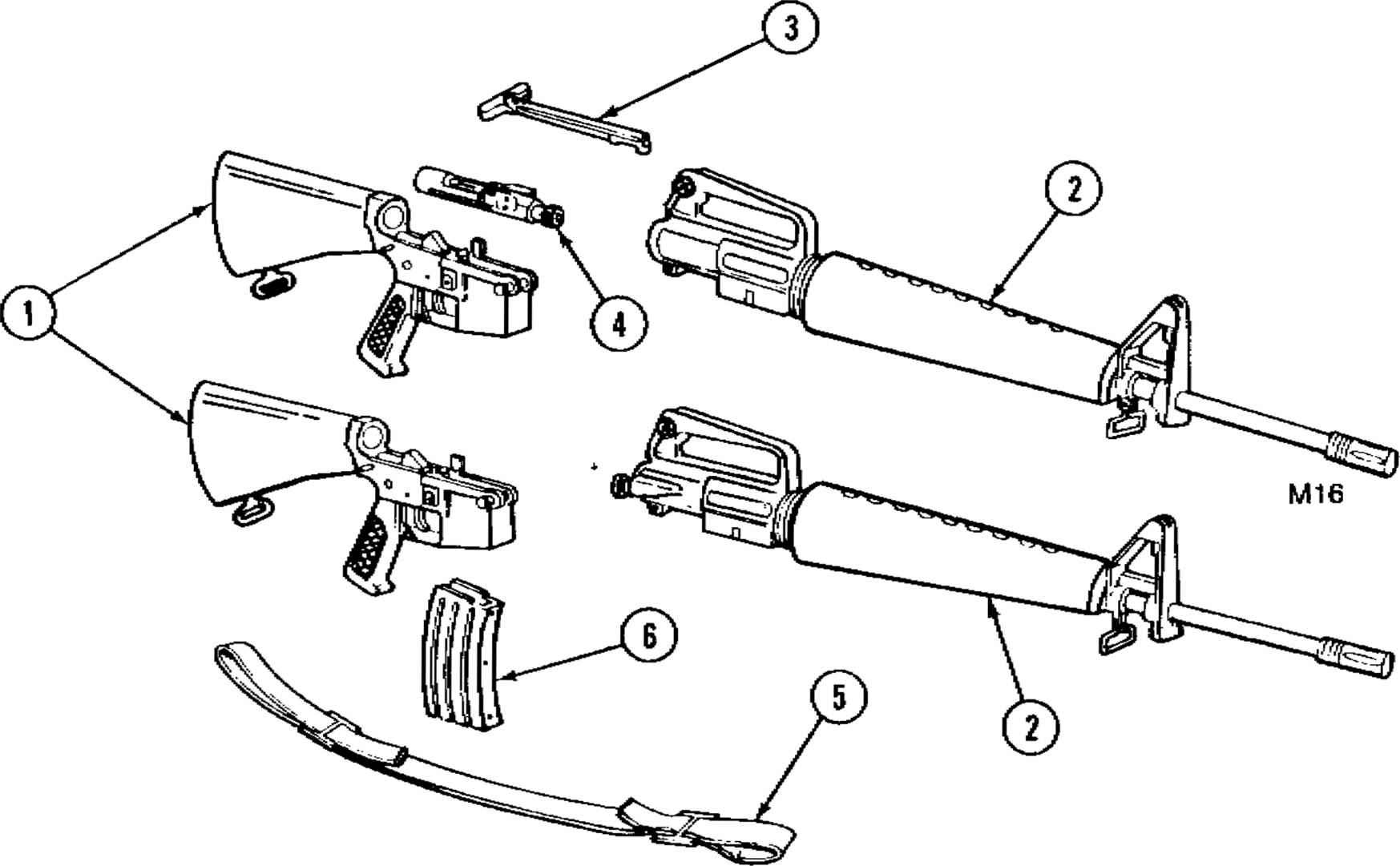 M 16 Rifle Schematic