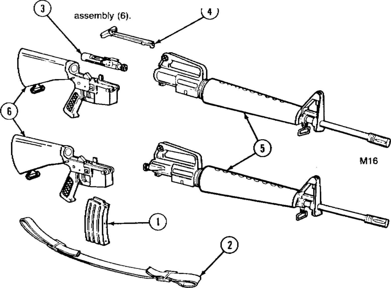 M 16 Quot Rifle Schematic