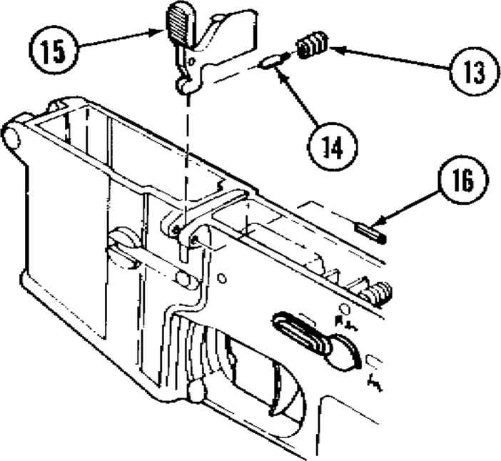 M16 Rifle Parts Diagram
