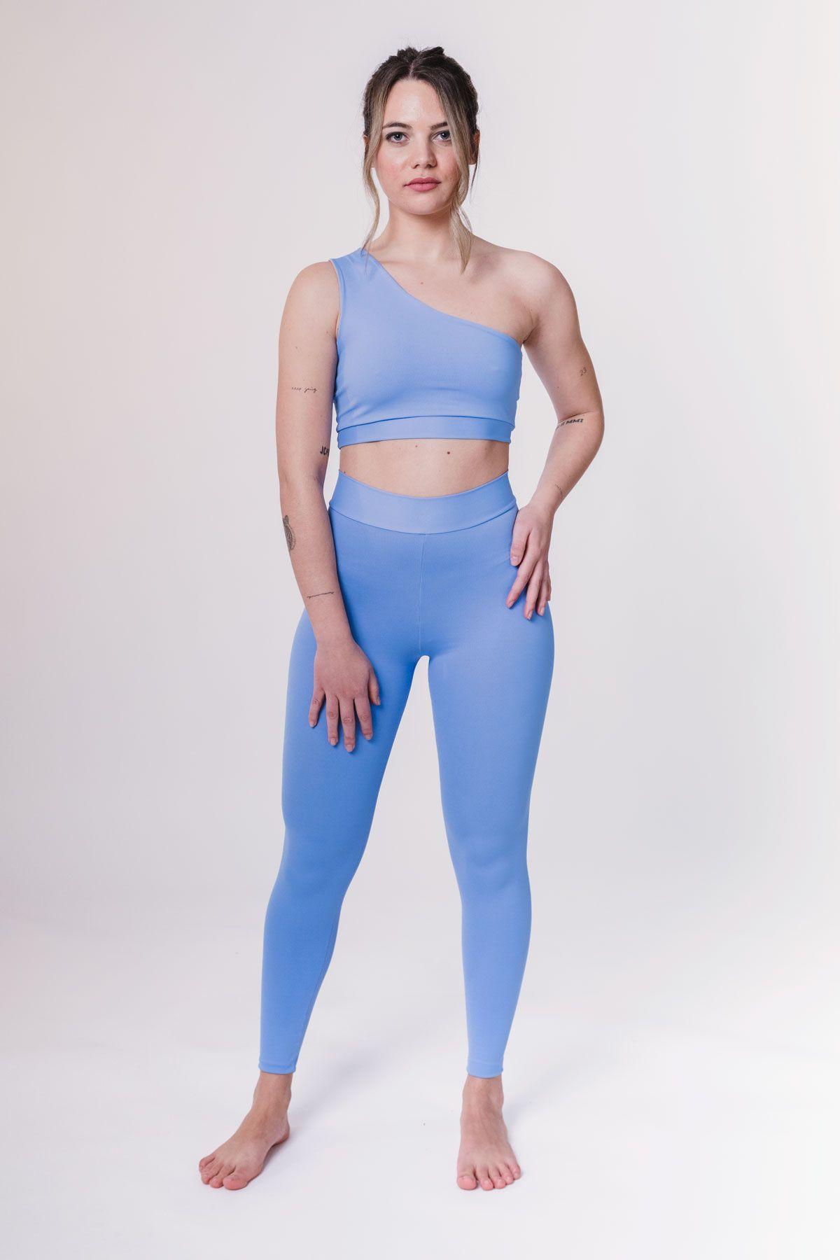 leggins largos azul mujer deporte