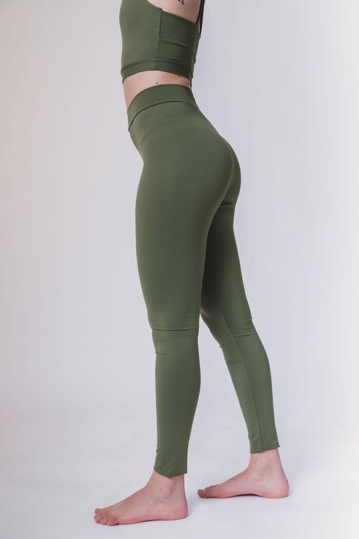 leggins largos verde deporte