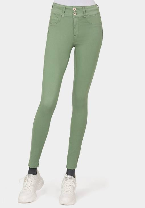 Jean one size taille unique. Push up couleur vert olive marque Tiffosi.