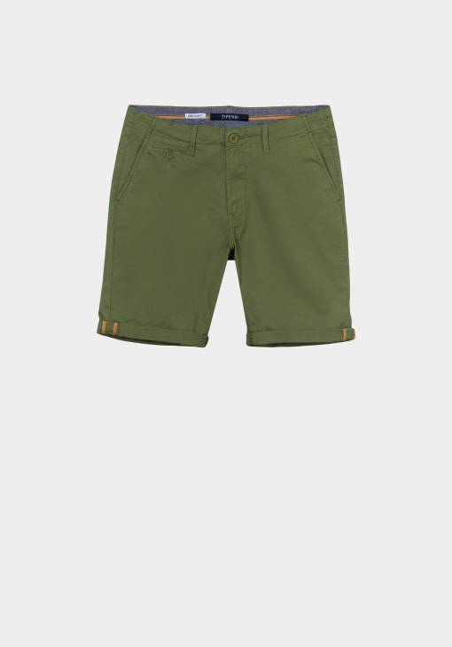 Short chino pour homme vert. Marque Tiffosi.