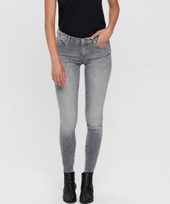 Jean skinny gris clair marque Only.