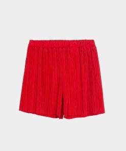 Short plissé rouge. Marque Tiffosi.