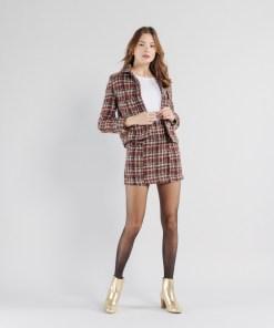Jupe courte droite tweed