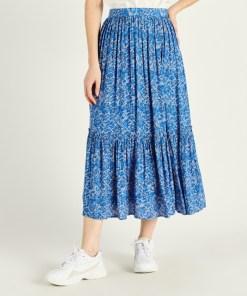 Jupe longue bleue Artlove