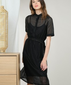 Robe résille noire Molly Bracken