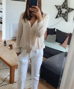 Jean blanc ceinturé LTC