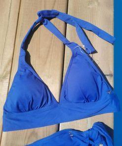 Maillot de bain deux pieces triangle bleu royal lpb swimsuit.