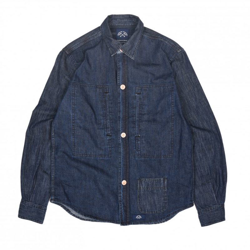 « Chemise Chauffagiste » en jean bleu de paname