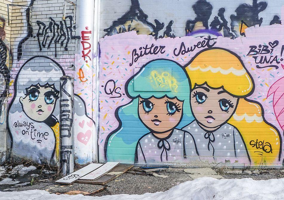 Stela sur building abandonné dans l'est de Montréal