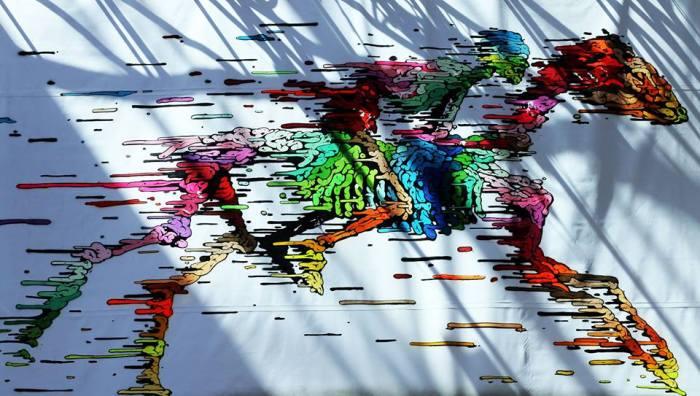 effervescence colorée du street-artiste Brusk