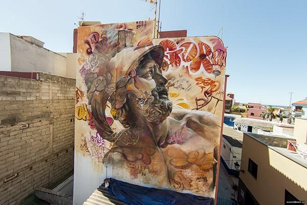 Les fresques murales de Pichi & Avo, entre classicisme et culture moderne