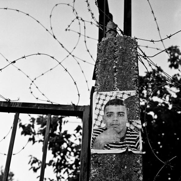 """Bethlehem, july 2011, """"portrait d'un martyr sur un mur Yann Renoult"""