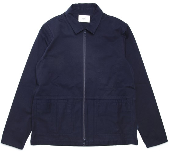 Zip Through Shirt Jacket - Navy Folk