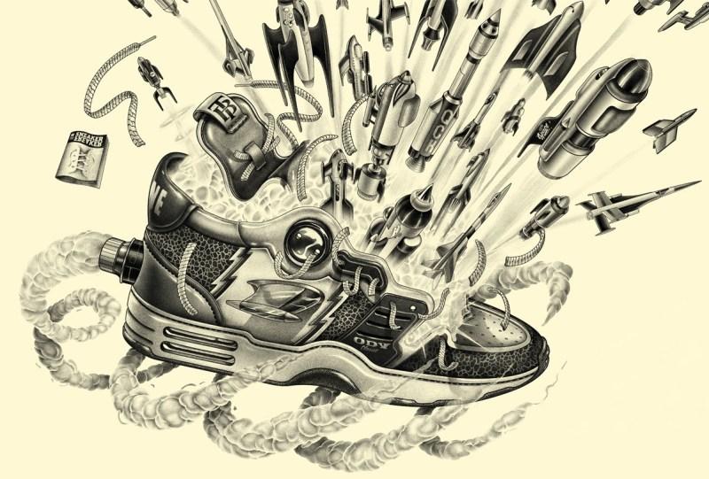 illustration de sneakers par shane