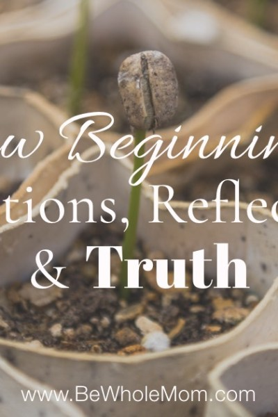 New Beginnings, Transitions, Reflections, & Truth