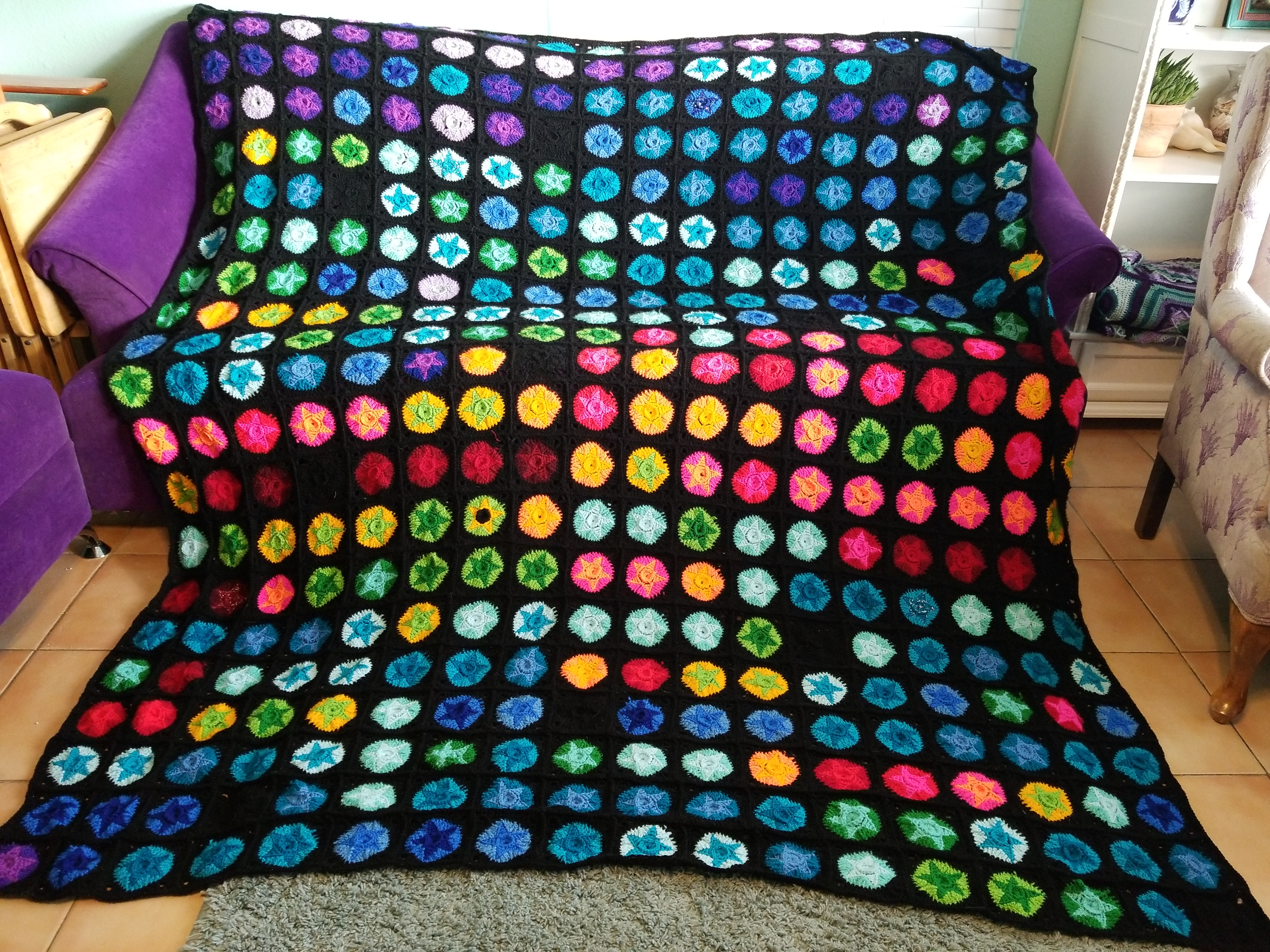 2017 Temperature Blanket Finished Bewitching Stitch
