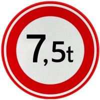 Aanscherping 7,5t-zone
