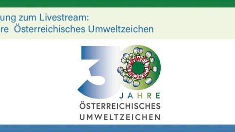 Einladung zum 30. Geburtstag des Österreichischen Umweltzeichens