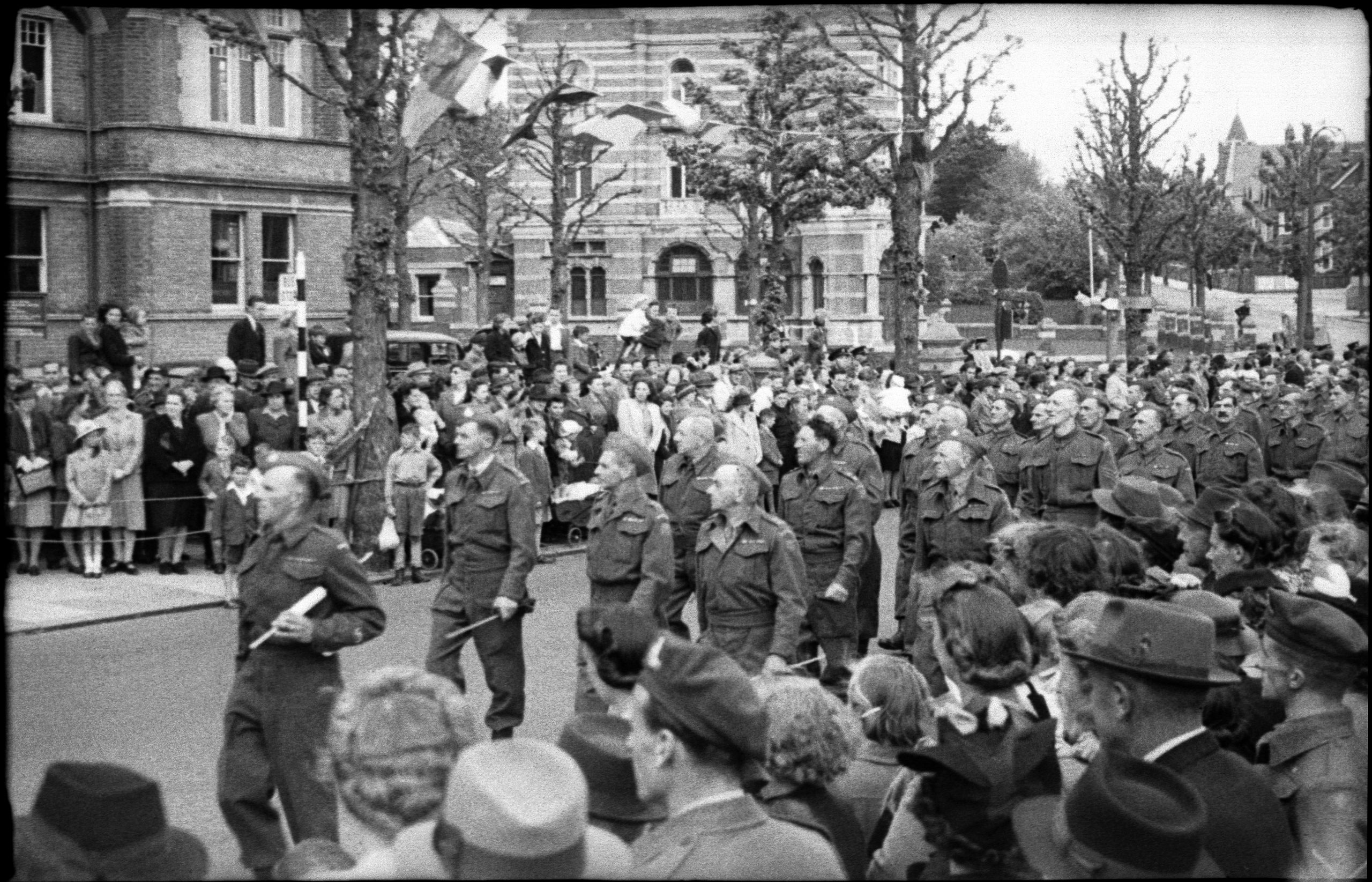 Parade to mark the end of the war in Europe on 13 May 1945, in Bexhill