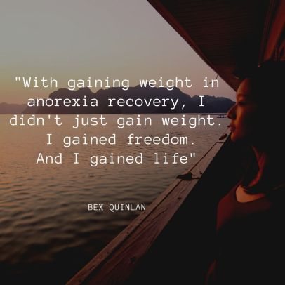 Gaining weight in anorexia recovery