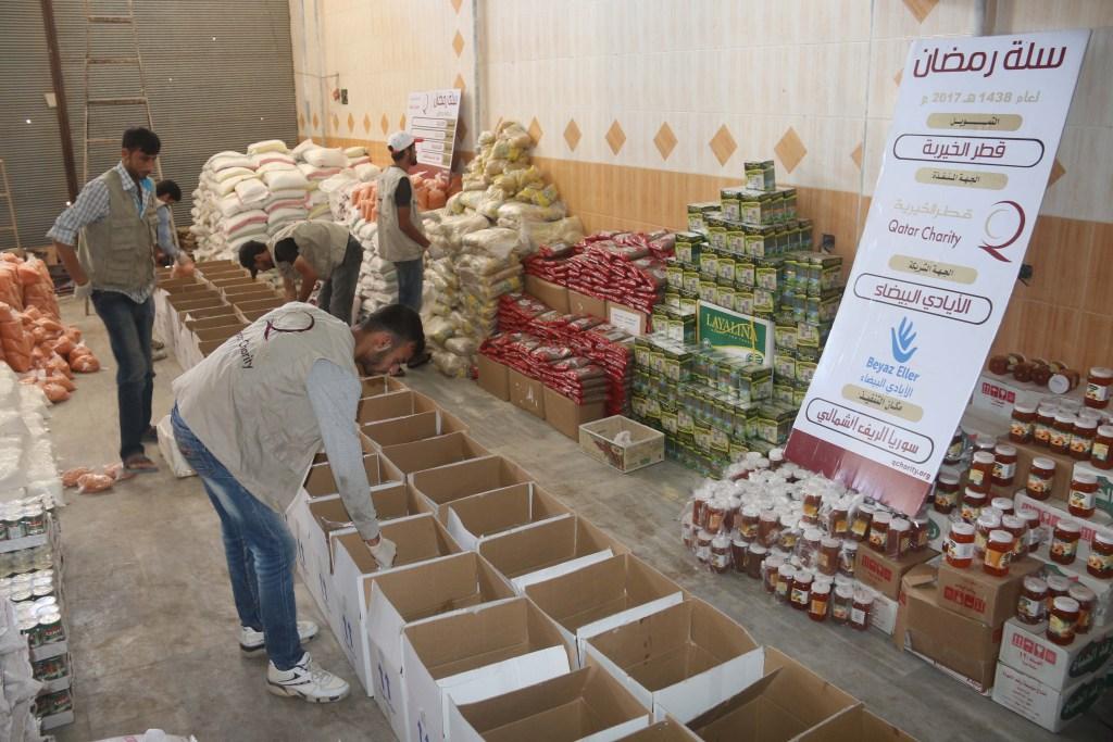توزيع 500 سلة غذائية برمضان 2017