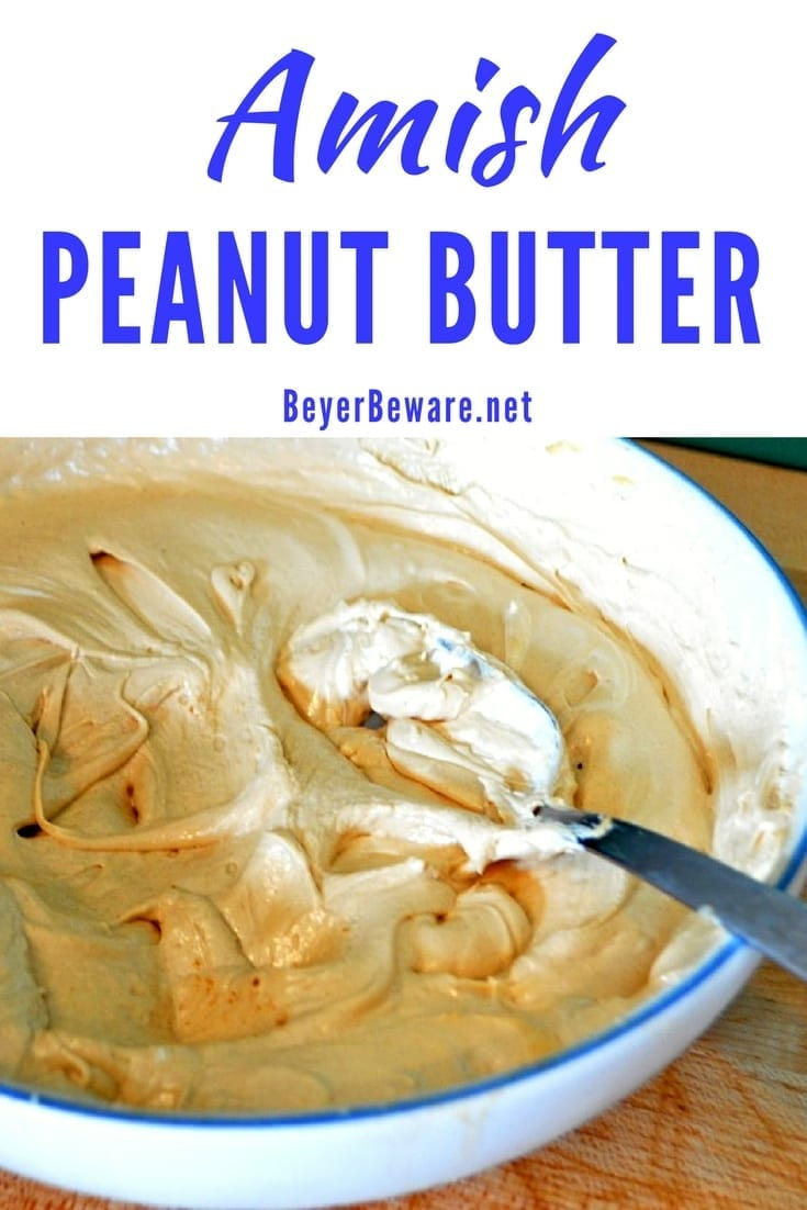 Amish peanut butter spread is a unique combination of peanut butter, marshmallow cream, and coffee is truly addicting for any peanut butter lover. #PeanutButter #Amish #MarshmallowFluff