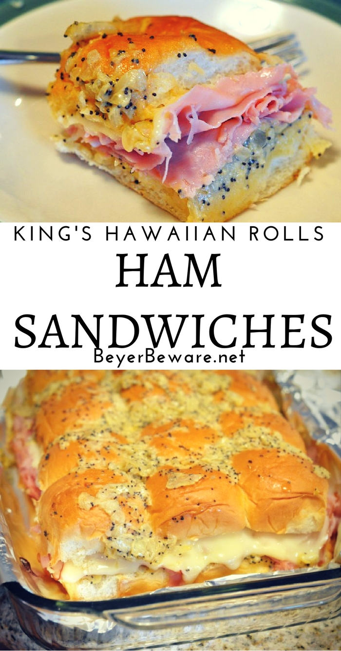 Melt in your mouth buttery King's Hawaiian Roll ham sandwiches are the perfect recipe for any party or weeknight meal.