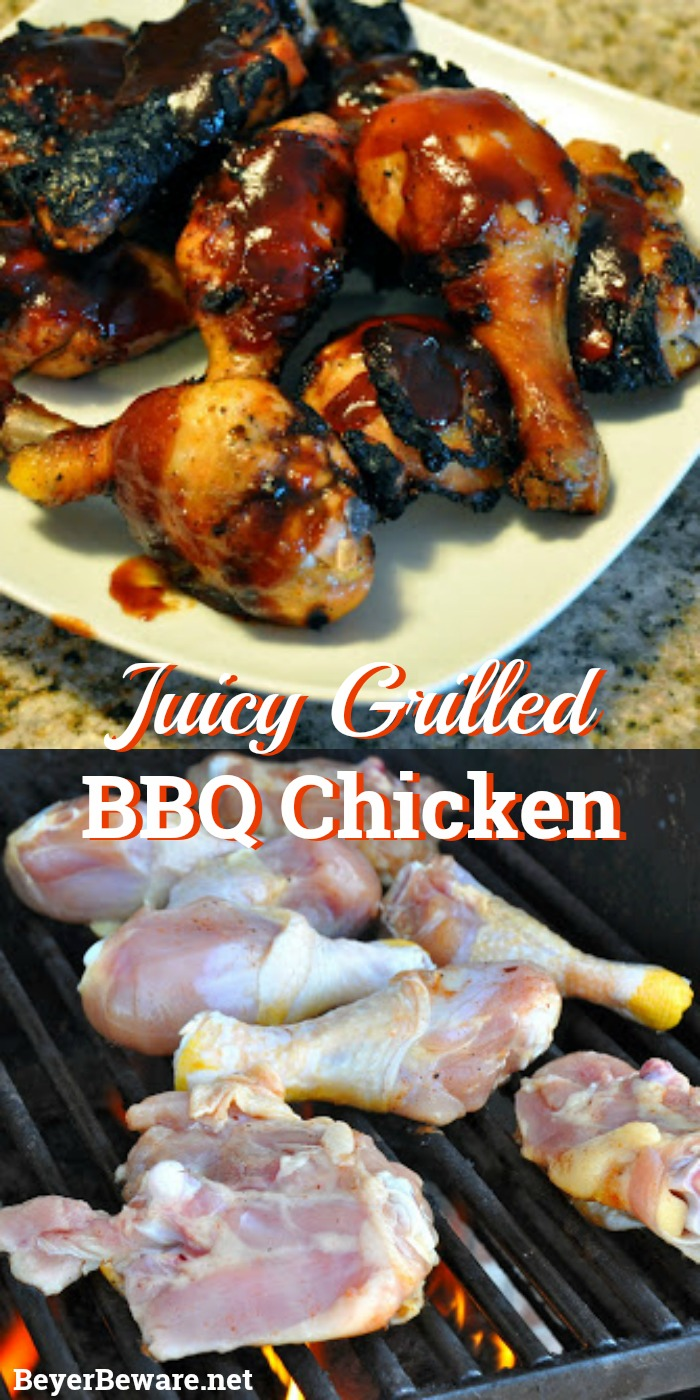This go-to BBQ recipe combines salt and sugar in a brine fills this juicy grilled BBQ chicken with tons of flavors as you can add garlic and spices.