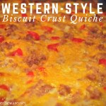 When you are feeding a hungry breakfast bunch, this hearty western-style biscuit crust quiche recipe is sure to fill everyone up.