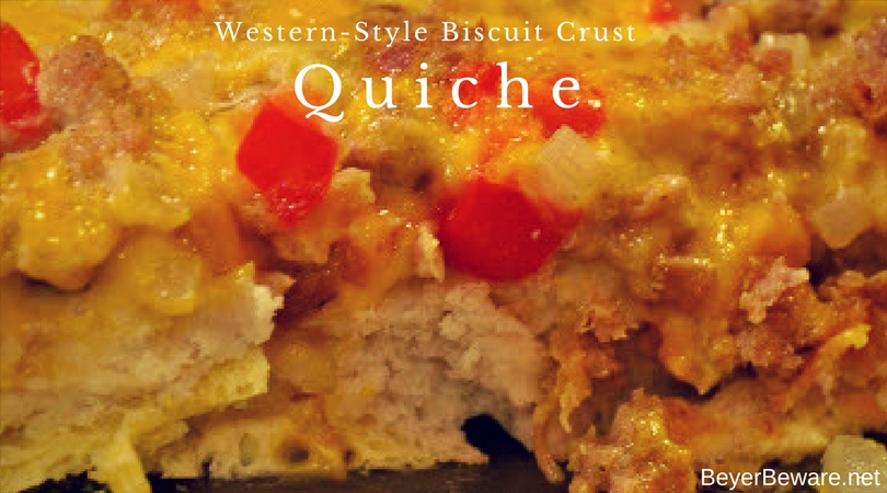 When you are feeding a hungry breakfast bunch, this hearty western-style biscuit crust quiche will fill everyone up.