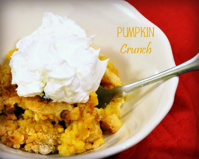 My favorite pumpkin crunch recipe is an easy fall dessert. It is so good.