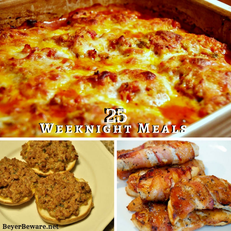 25+ Quick Weeknight Meal Ideas – Featuring Cheesy Sausage Bagels