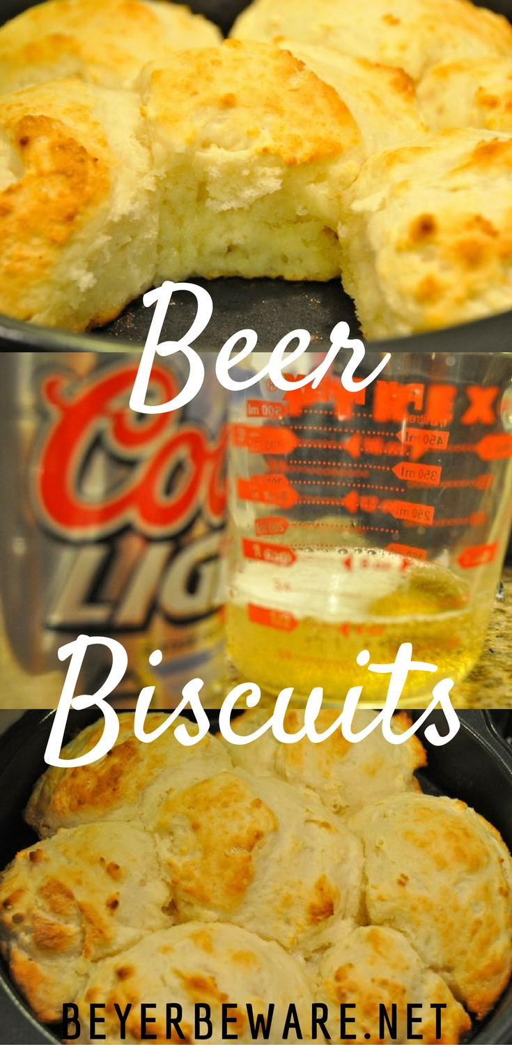 These beer biscuits recipe is very similar to 7-Up biscuits. If you love beer bread, you will love these flaky, buttery beer biscuits.
