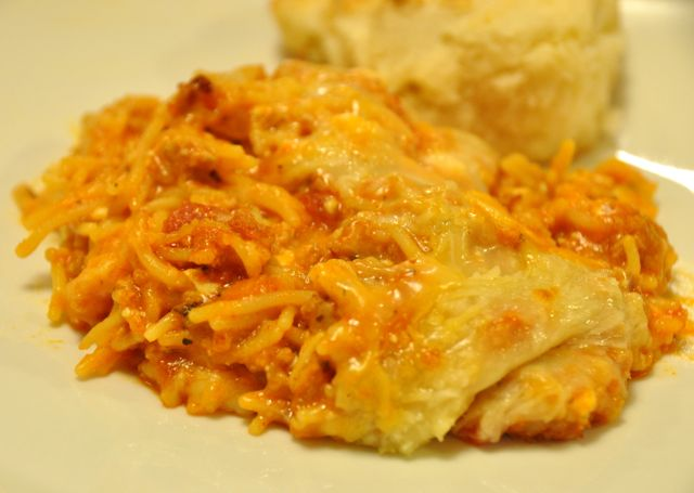 3 Cheese Baked Spaghetti