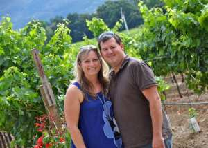 couple at winery