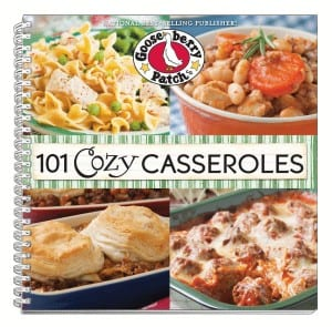 101 Cozy Casseroles cookbook from Gooseberry Patch