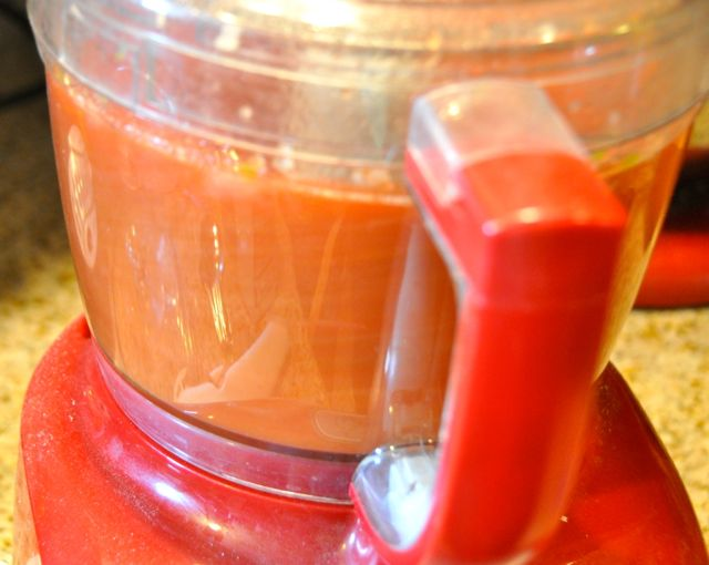 Making Salsa in the Food processor