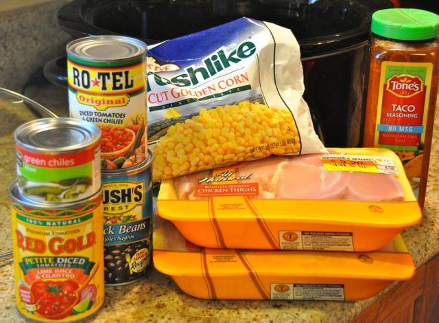 crock pot ingredients for chicken bowls