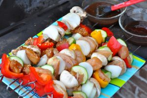 kabobs ready for the grill