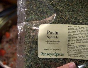 Penzey's Pasta Sprinkle