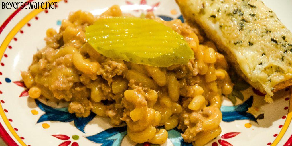 Cheeseburger Macaroni – Homemade Hamburger Helper