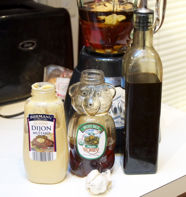Garlic, Honey, Dijon Mustard, Worcestershire Sauce