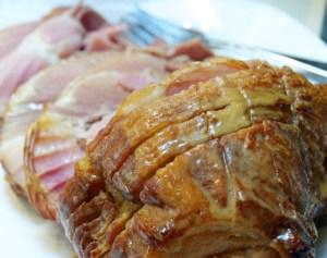 Garlic Honey Mustard Ham in the Crock Pot
