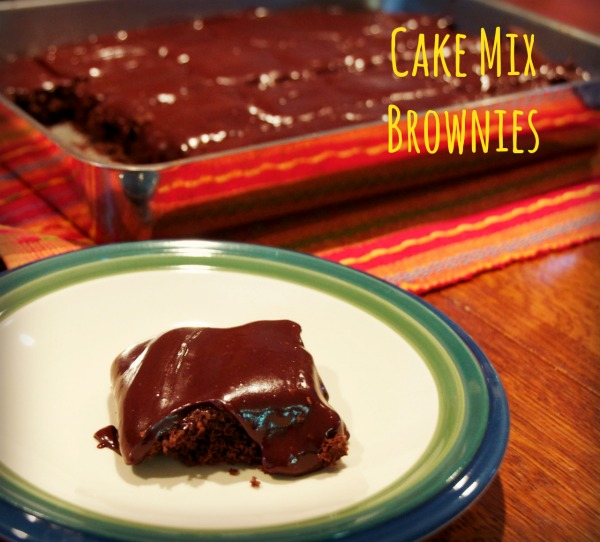 Cake Mix Brownie with icing