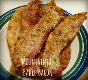 Mountaintop baked bacon